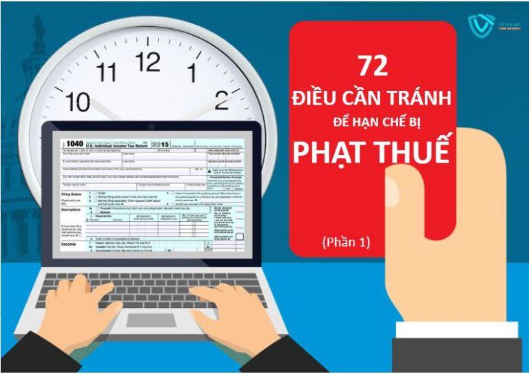 72 điều cần tránh để doanh nghiệp nộp thuế không bị phạt