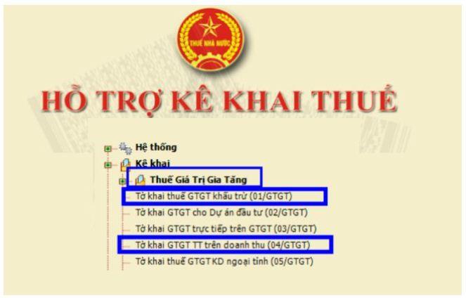 Hướng dẫn kê khai thuế GTGT trên phần mềm HTKK 2