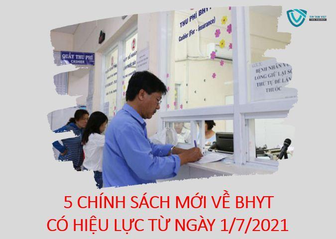chính sách BHYT có hiệu lực từ ngày 1/7/2021