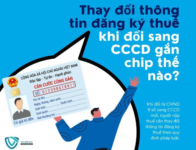 thay đổi thông tin đăng ký thuế khi đổi cccd gắn chip