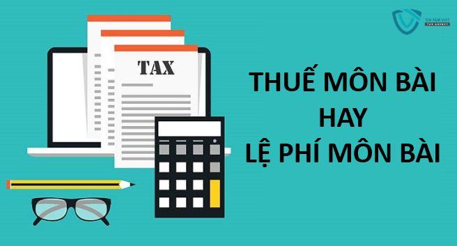 thuế môn bài hay lệ phí môn bài