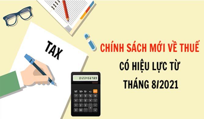 chính sách thuế tháng 8/2021