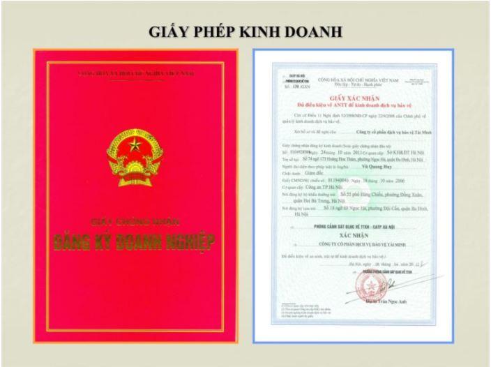 phân biệt giấy chứng nhận Đăng ký Kinh doanh và Giấy phép Kinh doanh